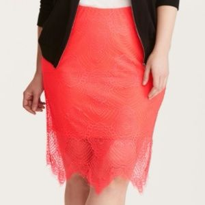 Torrid Lace Pencil Skirt